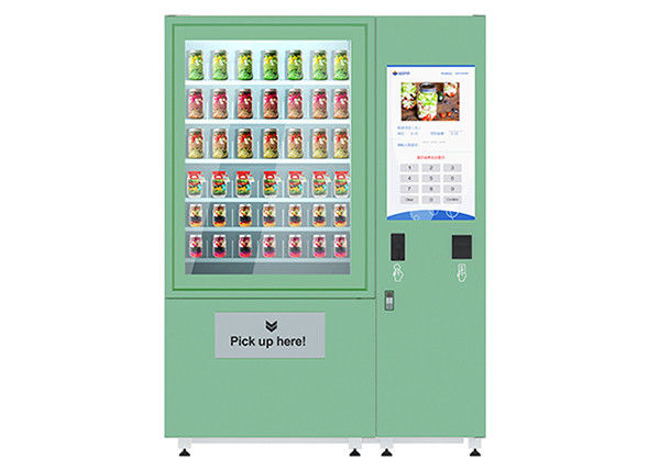 Automatic Fruit Fresh Salad Vending Machines 32 Inch Screen With Refrigeration