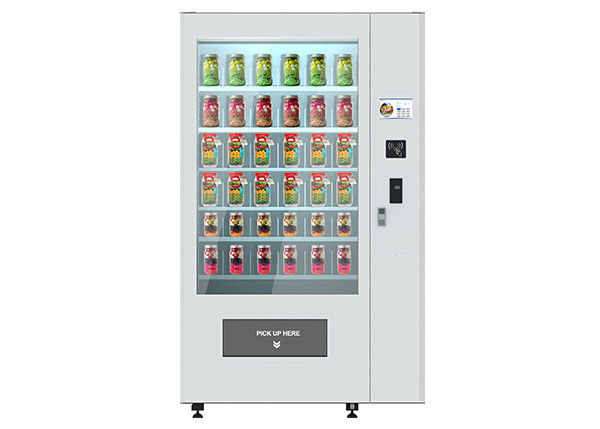 Fruit Pizza Nutrition Salad Vending Machine With Advertising / Cooling Function supplier