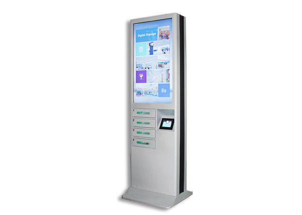 Modern Cell Phone Charging Stations , Phone Charging Locker With 43 Inch Advertising LCD Screen supplier