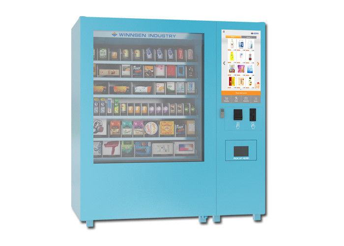 Snack Yogurt Elevator Food Vending Machine With 32 Inch Touch Screen supplier