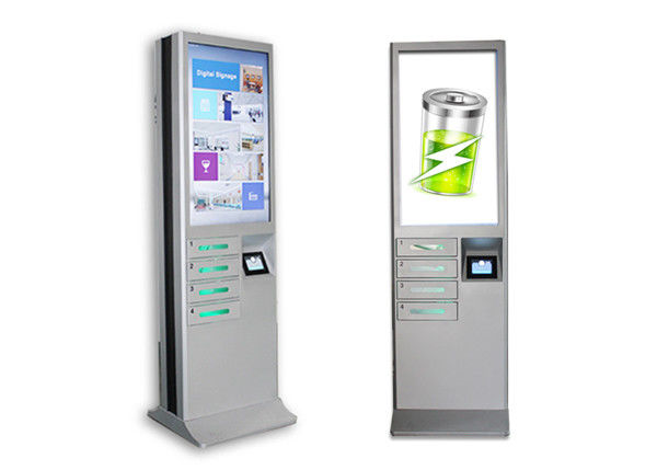 Remote Advertising Cell Phone Charging Stations With 6 Electric Lockers