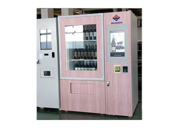 24 Hours Touch Screen Wine Vending Machine Self Service For Restaurant / Stadiums supplier