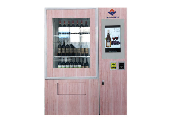 Smart Beer Wine Vending Machine With Advertising LCD And Coin /Bill / Credit Card Reader supplier