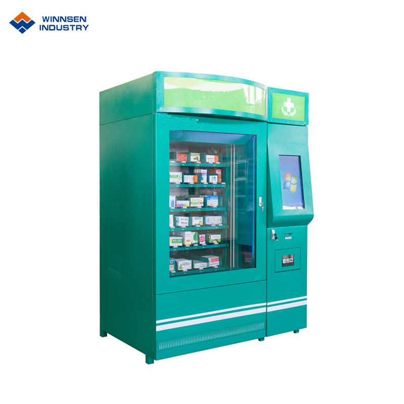 Double Cabinet Pharmacy Vending Machine , Medicine Vending Machine With Cooling System supplier