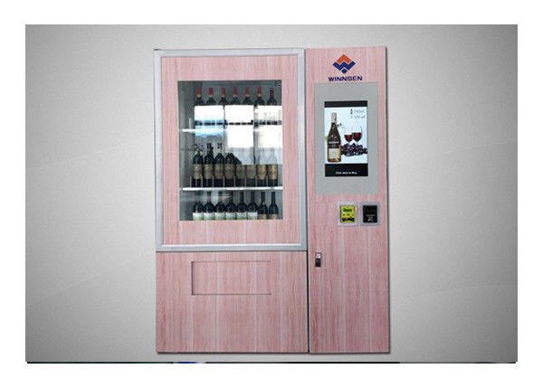Conveyor Belt Coin Bill Card Payment Wine Bottle Vending Machine For Hotel Shopping Mall