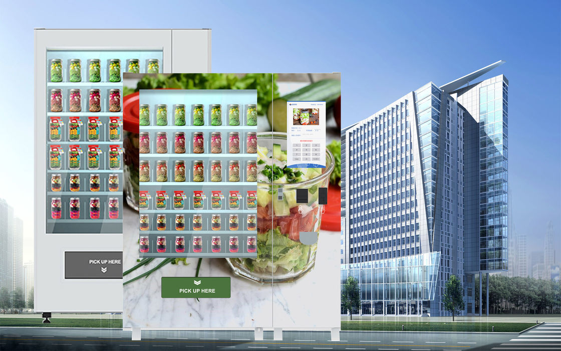 Intelligent Salad Vending Machine With Cashless Payment Device And Advertising Screen supplier