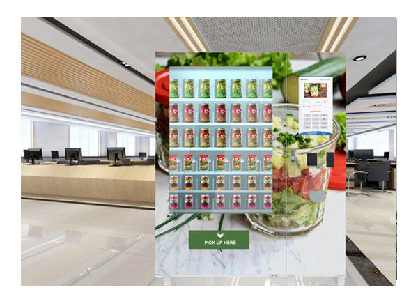 Self Service Fresh Salad Vending Machine , Conveyor Belt Vending Machine