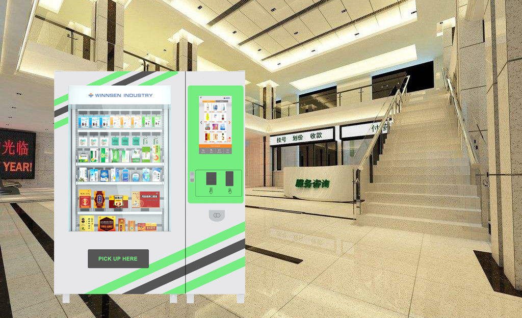 Hospital Little Bottles Medication Vending Machine With Remote Information Update Function supplier
