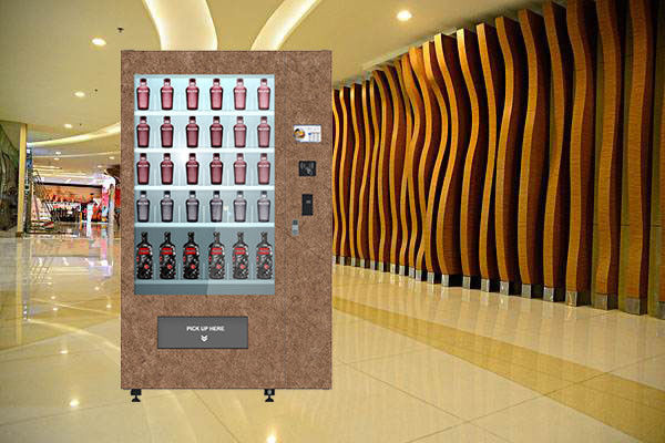 Touch Screen Red Wine Vending Machine / Vending Kiosk With Multi Languages UI