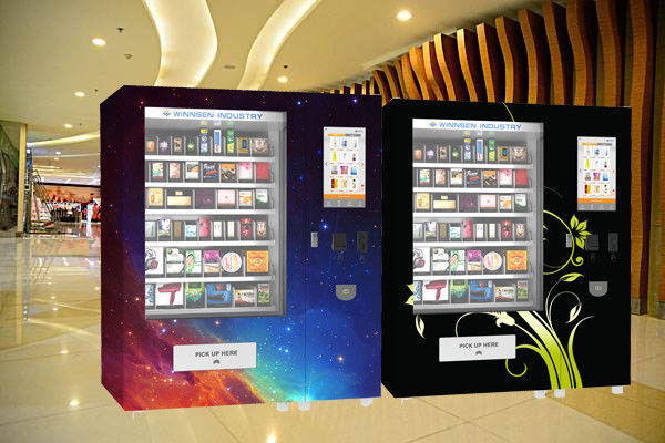 Snack Food Vending Kiosk With Coin Bill Credit Card Payment And Remote Platform