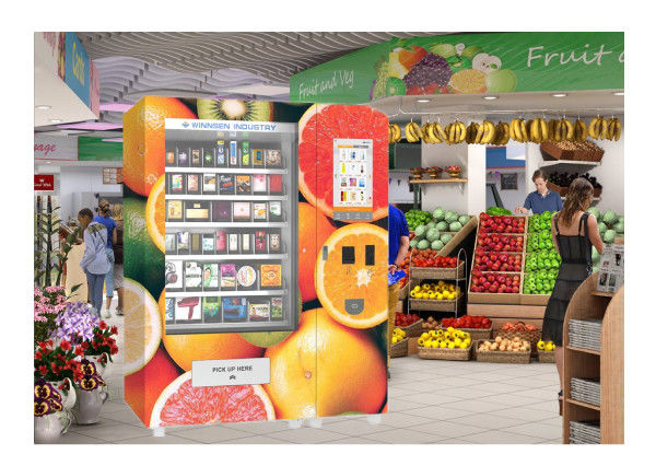 Snack Food Coffee Water Drink Automatic Vending Machine With Advertising Touch Screen supplier