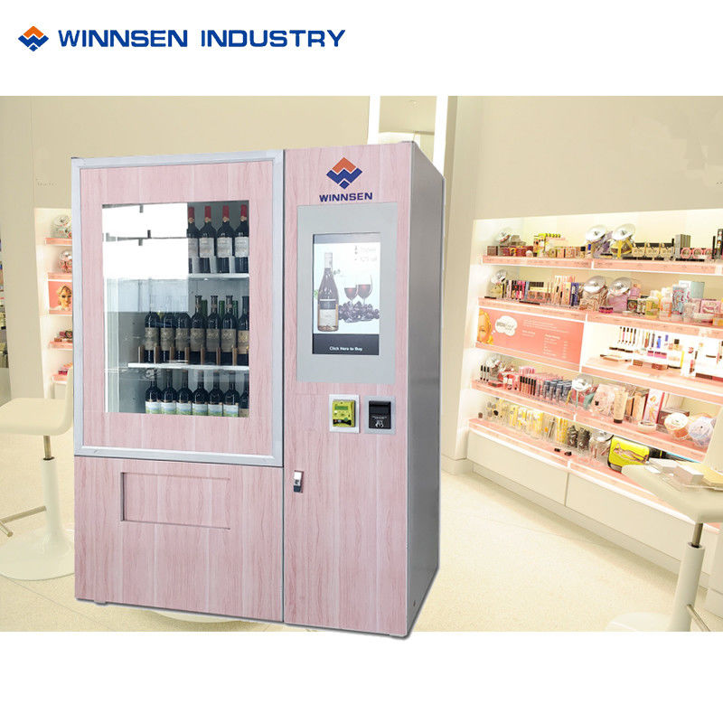 Custom Lift Electronics Wine Champagne Vending Machine With 22/32 Touch Screen