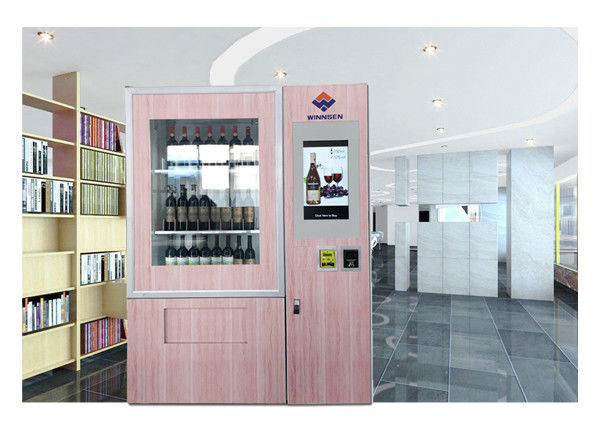 Anti Theft Large Capacity Outdoor Vending Machines For Wine With Coin Bill Card Payments supplier