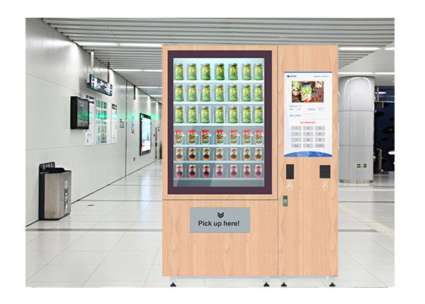 Network Access Salad Fruit Vegetable Vending Machine With 32 Inch Touch Screen supplier