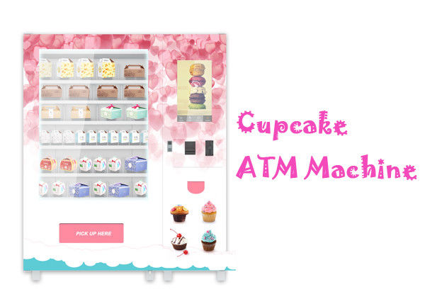 Automatic Food Vending Machine For Cupcake Breakfast Bread With Elevator Lift