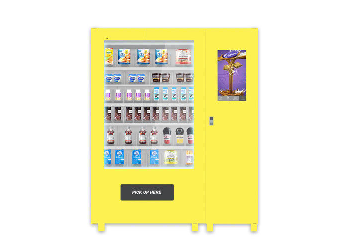 High End Auto Elevator Food Vending Machine For Cupcake Snack Chocolate With Payment Model