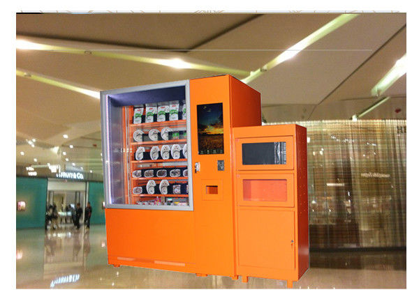 24 Hours Smart Hot Food Hamburger Vending Machine With Microwave Heating Function