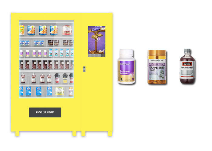 Self Auto Elevator Food Vending Machine , Mini Cupcake Drink Egg Vending Machine supplier
