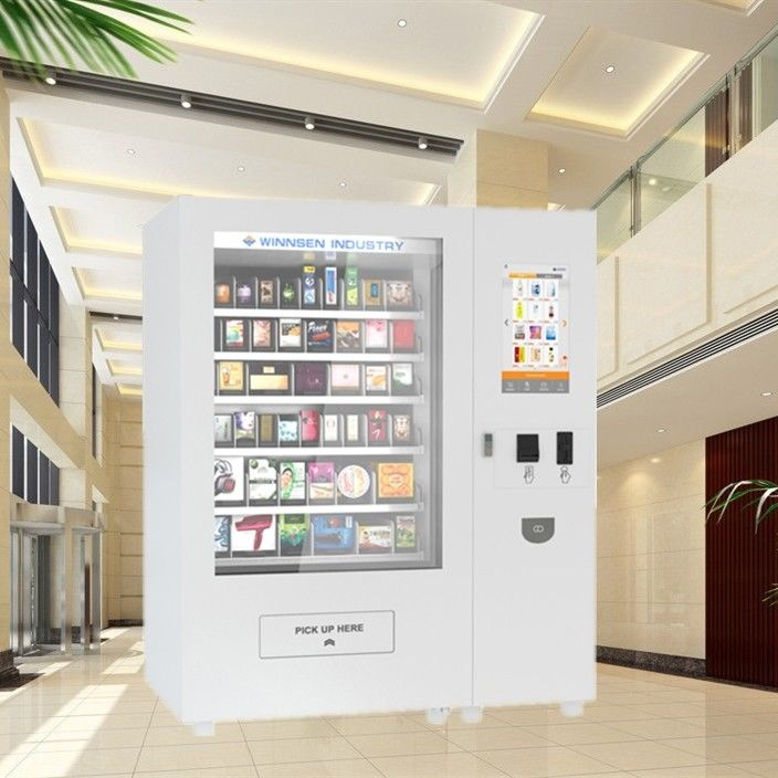 "Automatic Mini Mart Vending Machine With 22"" Advertising Touch Screen And Elevator"