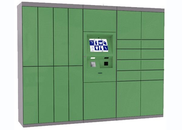Green Intelligent Laundry Locker With Safety Camera Option , Simple Operation And Manage