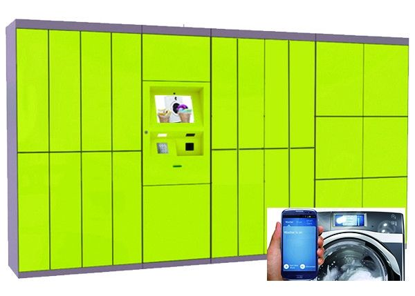 Self Service Intelligent Laundry Locker With Remote Platform , Phone Number Message Access