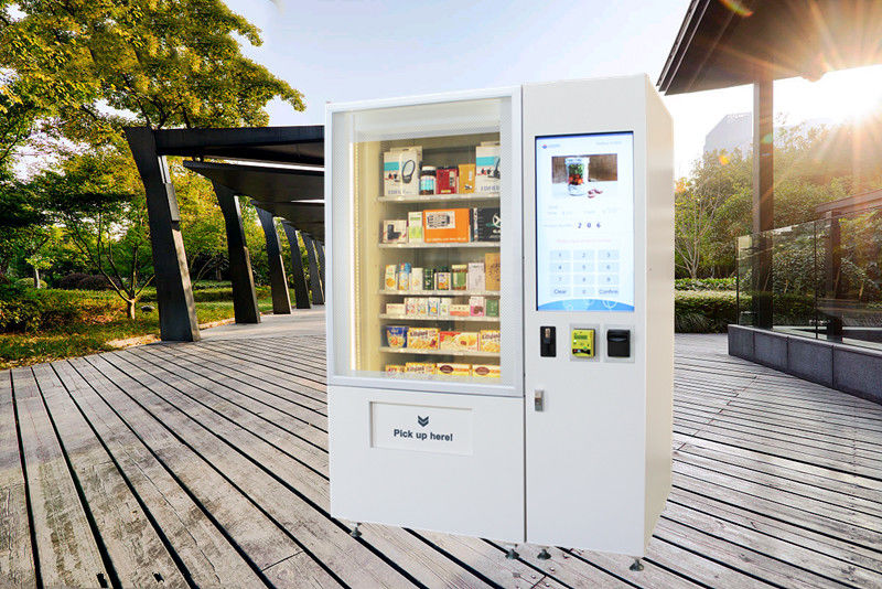 Big Stock Self Service Vending Kiosk / Automated Vending Machine With Elevator System