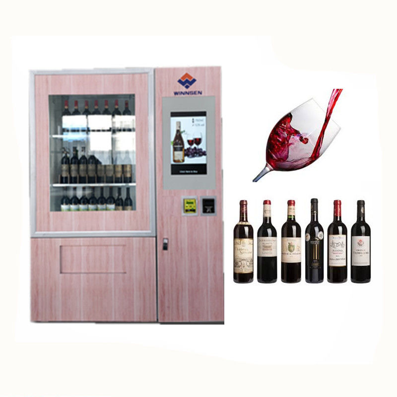 Coin Bill Card Payment Mini Mart Vending Machine For Sandwich Drinks With Advertising Display supplier