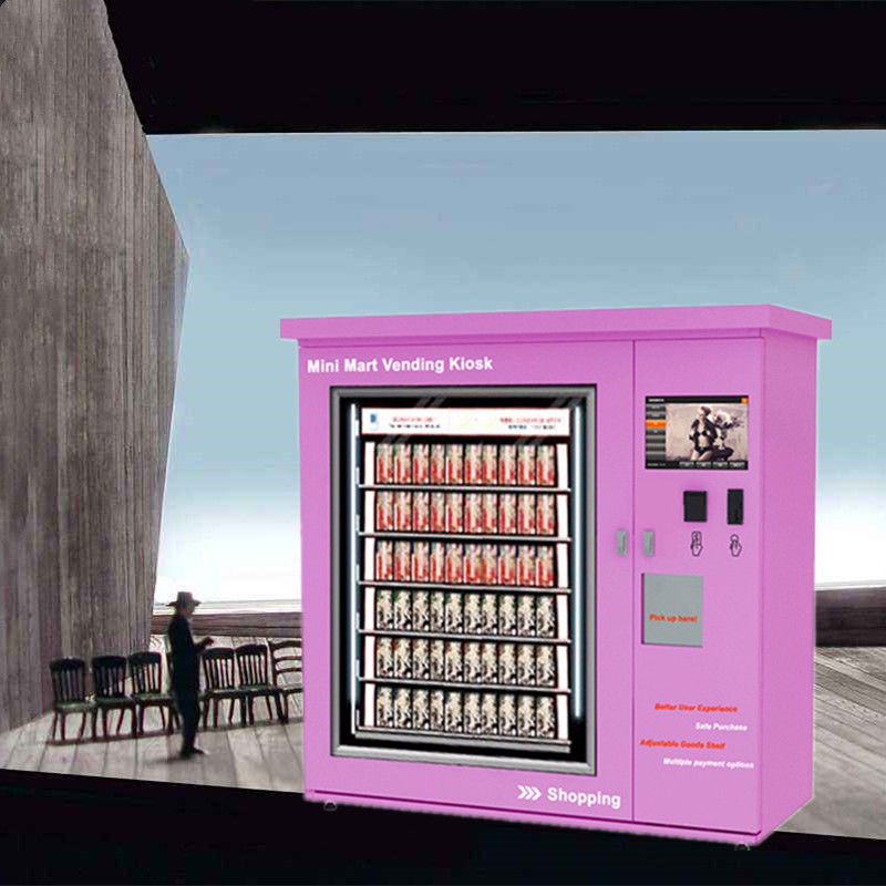 Anti Theft Auto Mini Mart Vending Machine Kiosk For Drinks / Snacks / Pringles supplier