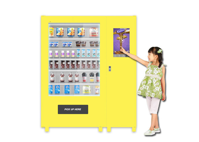 Automatic Snacks Cupcakes Food Vending Machine , Self Mini Mart Vending Lockers supplier
