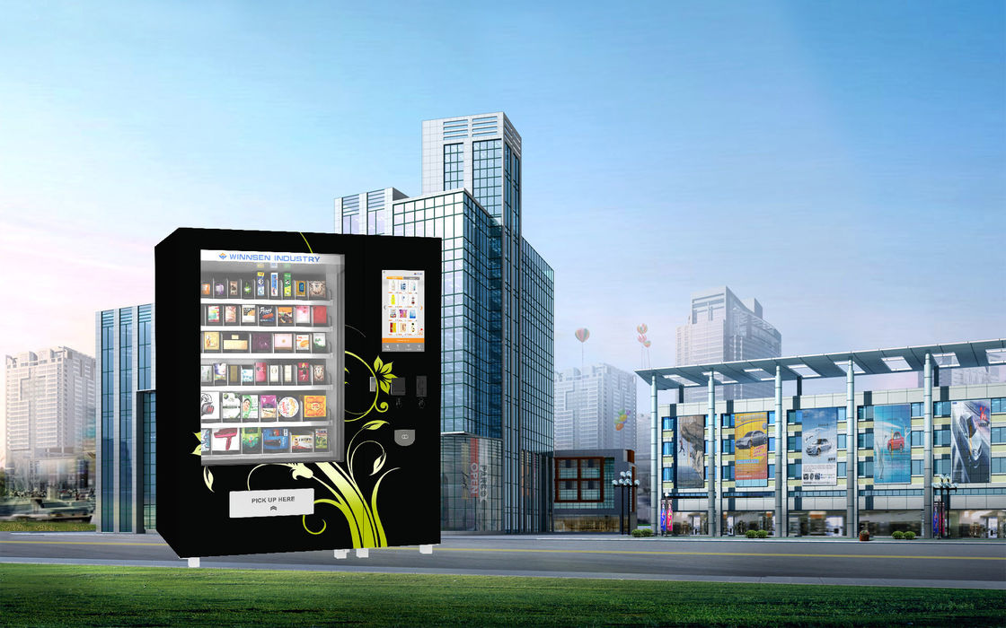 Can Package Food Vending Machine With TouchScreen And Security Camera supplier