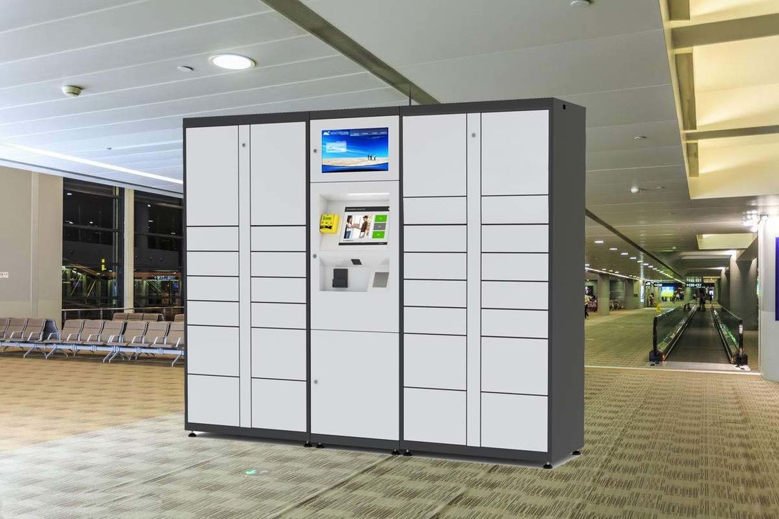 Winnsen Luggage Lockers For Indoor Public Place Use With Advertising Screen