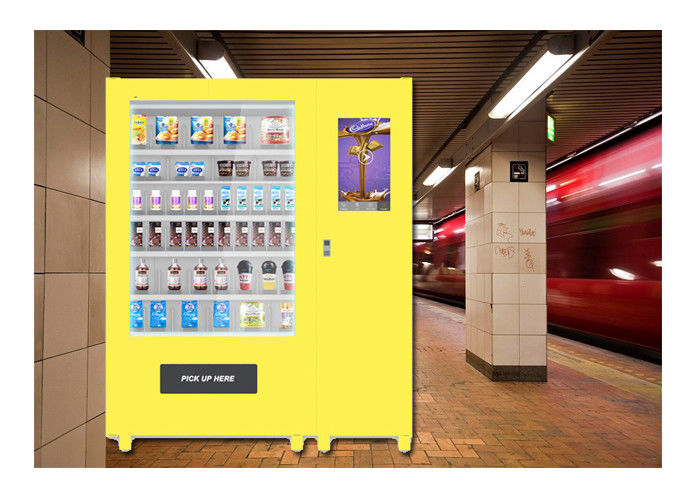 Customized Meal Food Vending Machine Lockers For Bus Station , Sandwich Vending Machine supplier