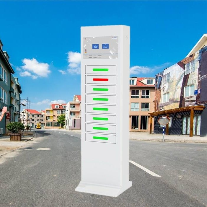 Electric Type Mobile Phone Charging Station Signal Advertising Locker supplier