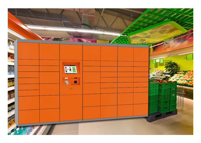 Shopping Mall Cabinet Rental Lockers , Bar Code Electronic Smart Storage Lockers