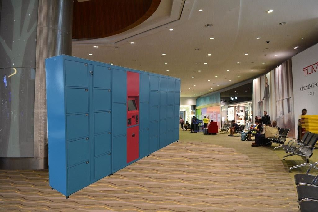 Wireless Monitoring Delivery Parcel Collection Lockers With Secured Electronic Locks