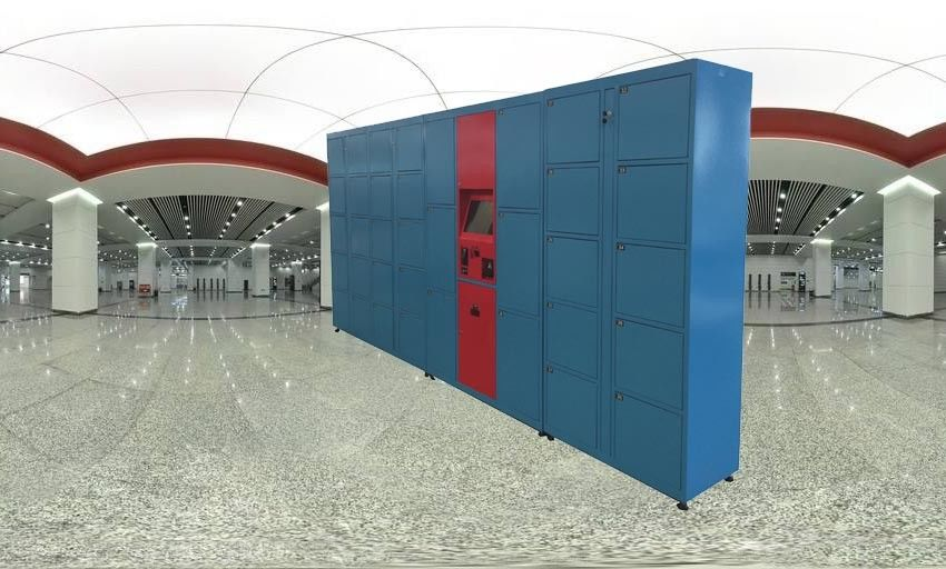 Metal School Storage Public Lockers With Smart Locks RFID Card Access