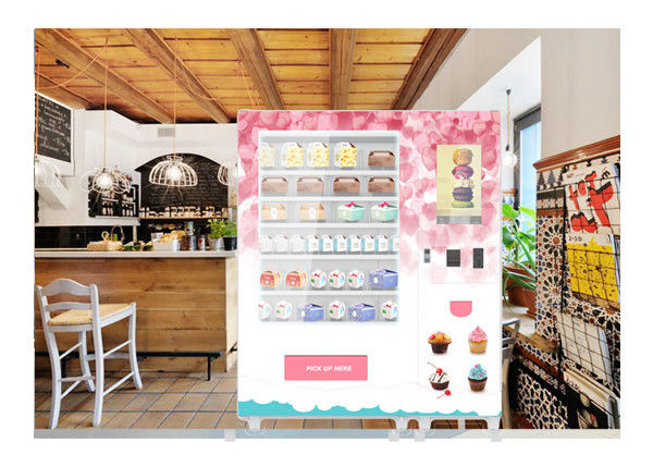 24 Hours Huge Variety Cupcake Mini Mart Vending Machine With Elevator And Refrigerator