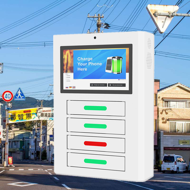 Android Network Mobile Smartphone Charging Station With display digital signage