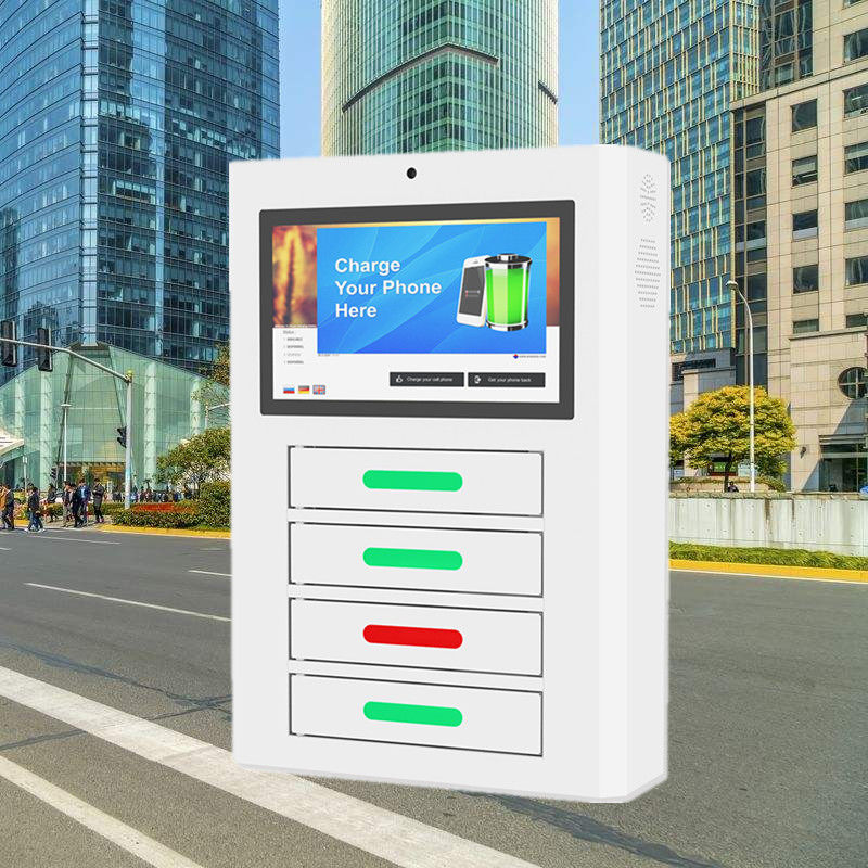 Intelligent Self Service Mobile Phone Charging Station Kiosk With Four Doors supplier