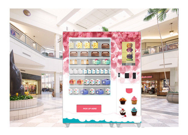 Cash Card Payment Cookie Cupcake Vending Machine With Remote Network Management System