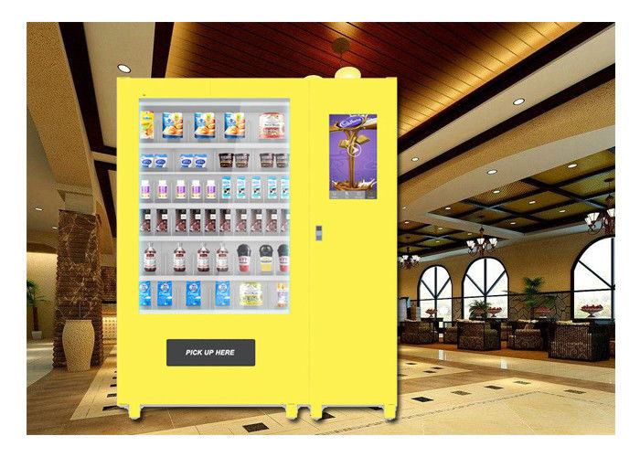 24 Hours Self Service Snack Vending Machine , Cupcake Vending Machine With Lift System