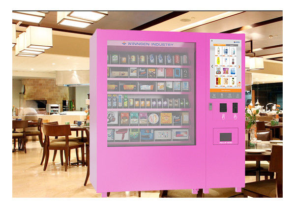 Online Shop O2O PIN Code Operated Mini Mart Vending Machine Kiosk With Remote System supplier