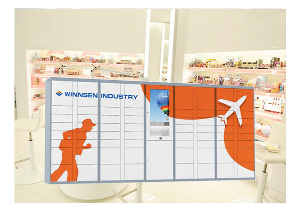 Intelligent Parcel Delivery Lockers For E - Commerce / Online Purchase , 15 Inch Touch Screen supplier
