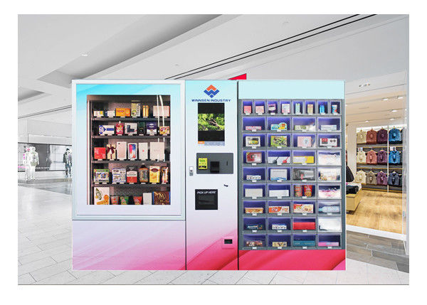 Smart Robotic Customized Mini Mart Vending Machine Locker Dual Cabinet supplier