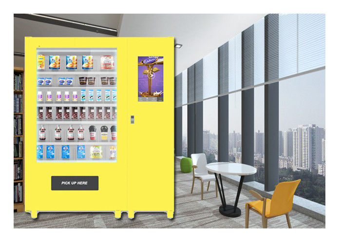 Customize Glass Bottle Drink Snack Vending Machine With Large Touch Screen supplier