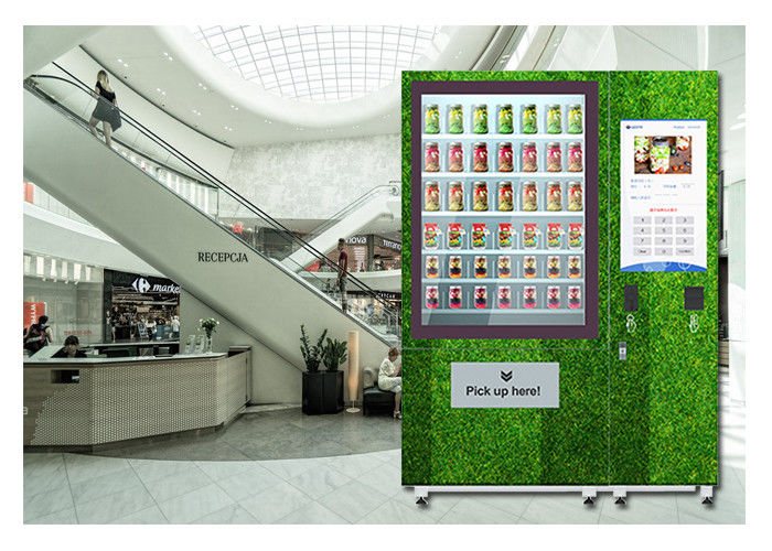 Restaurant University Gym Salad Vending Machine With Conveyor And Remote Control System supplier