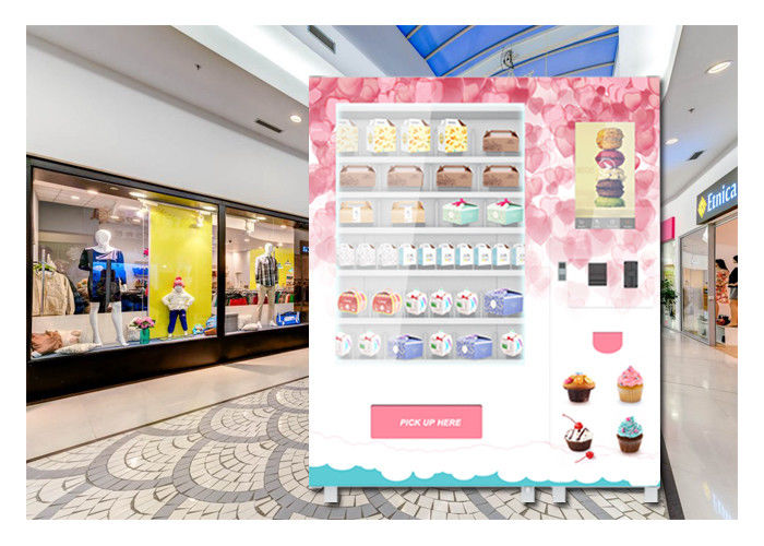 QR Code Payment Advertising Cupcake Bread Snack Vending Machine With Elevator System supplier