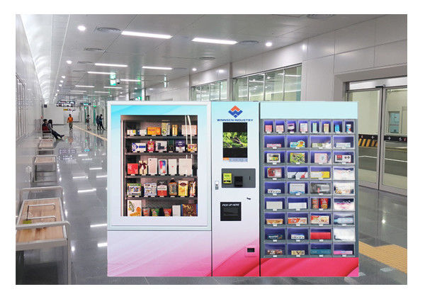 Convenience Store Mini Mart Vending Machine Locker Coin Bill Card Payment Travelling Product supplier