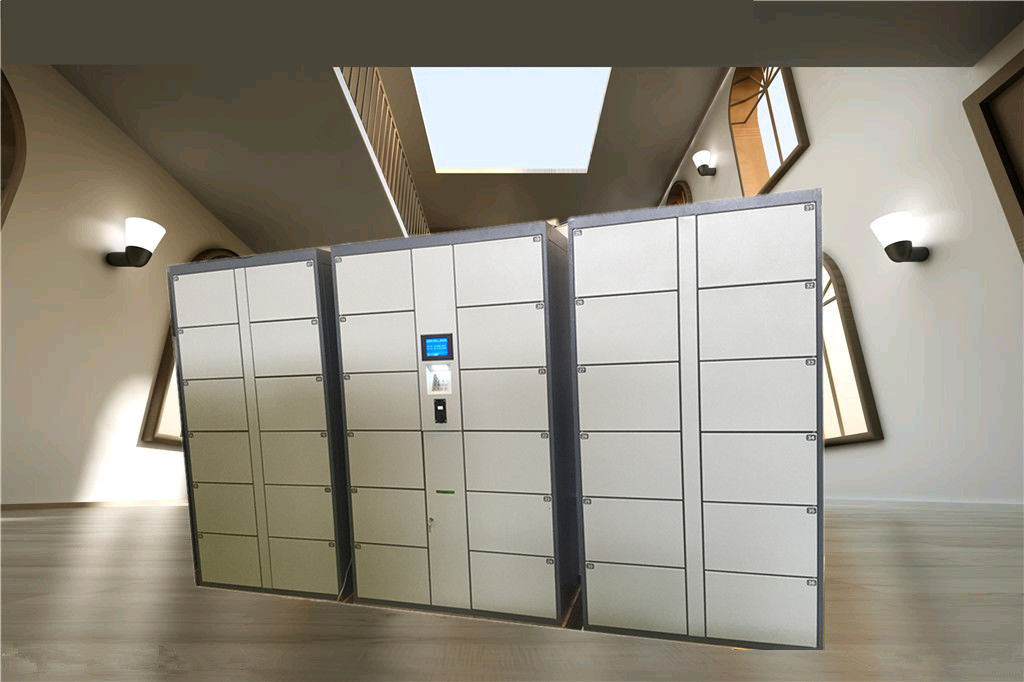 36 Doors Automatic Storage Luggage Lockers For Gym / Swimming Pool / Water Park with Steel Enclosure