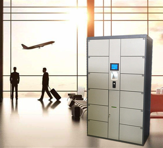 12 Door Airport Public Storage Locker For Luggage Deposit With Advertising Function supplier